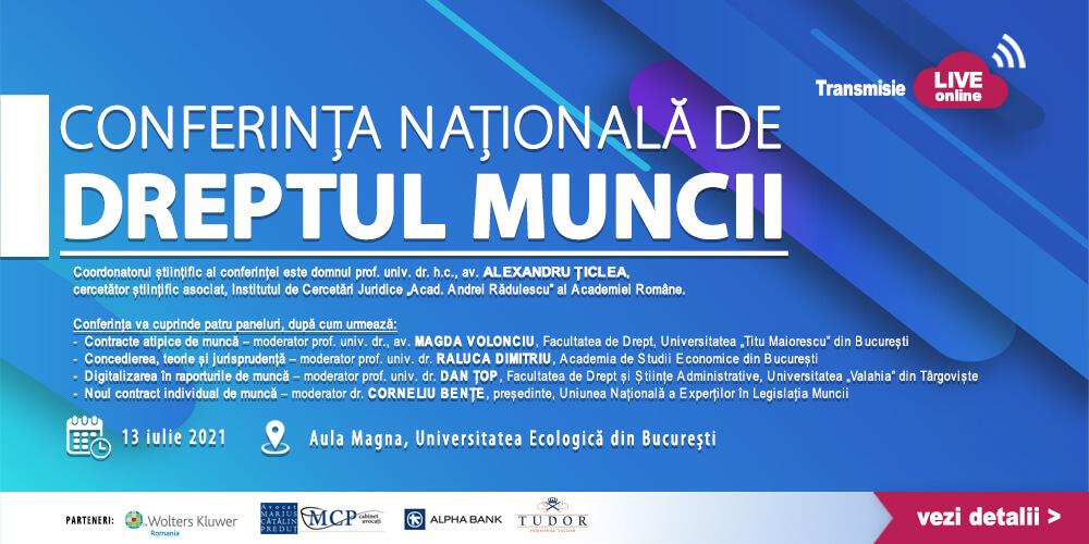 Conferinta Nationala de Dreptul Muncii