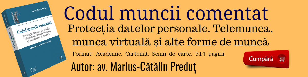 Codul muncii comentat 2019 Avocat Marius-Catalin Predut